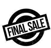 Final Sale rubber stamp. Grunge design with dust scratches. Effects can be easily removed for a clean, crisp look. Color is easily changed Royalty Free Stock Photo