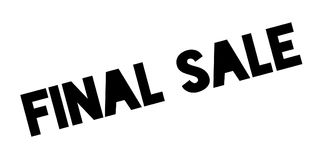 Final Sale rubber stamp. Grunge design with dust scratches. Effects can be easily removed for a clean, crisp look. Color is easily changed Stock Image