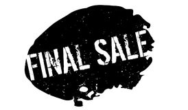 Final Sale rubber stamp. Grunge design with dust scratches. Effects can be easily removed for a clean, crisp look. Color is easily changed Stock Photo