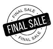 Final Sale rubber stamp Royalty Free Stock Images