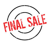 Final Sale rubber stamp. Grunge design with dust scratches. Effects can be easily removed for a clean, crisp look. Color is easily changed Royalty Free Stock Images