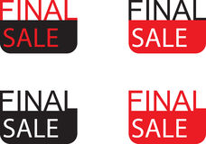 Final sale sign. Design for tag signage or sticker  advertising on shop's  window Royalty Free Stock Photo