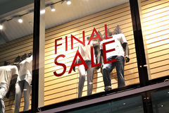 Final sale. Sign of a boutique Royalty Free Stock Image