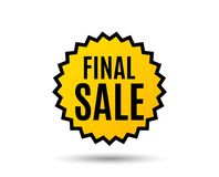 Final Sale. Special offer price sign. Advertising Discounts symbol. Star button. Graphic design element. Vector Royalty Free Stock Photography