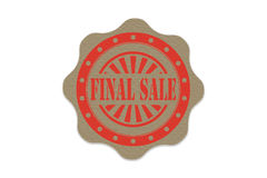 Final sale stamp  on paper.  Royalty Free Stock Images