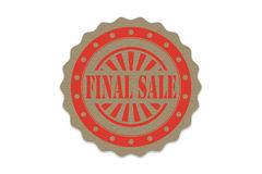 Final sale stamp  on paper.  Stock Images