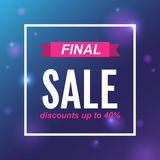 Final sale Vector template for posters, banners royalty free illustration