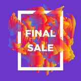 Final sale web baners. Royalty Free Stock Photos
