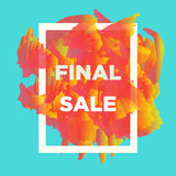 Final sale web baners. Royalty Free Stock Images