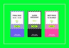 Final Sale Web Banners Set Stock Photos