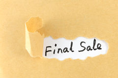 Final sale words Stock Photo