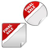Final sale for xmas design. On white background Royalty Free Stock Images