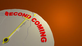 Final Seconds to Second Coming Christ Illustration Stock Photo