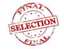 Final selection. Rubber stamp with text final selection inside,  illustration Stock Images