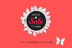 Final Spring Sale. Modern Conceptual Vector Illustration. Promotion Template For Banners, Posters, Gift Cards.  Stock Images