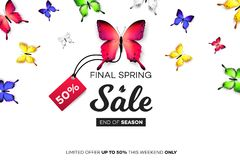 Final Spring Sale. Modern Conceptual Vector Illustration. Promotion Template For Banners, Posters, Gift Cards.  Royalty Free Stock Images