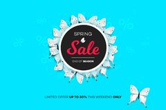 Final Spring Sale. Modern Conceptual Vector Illustration. Promotion Template For Banners, Posters, Gift Cards.  Stock Photography