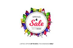 Final Spring Sale. Modern Conceptual Vector Illustration. Promotion Template For Banners, Posters, Gift Cards.  Stock Image