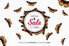 Final Spring Sale. Modern Conceptual Vector Illustration. Promotion Template For Banners, Posters, Gift Cards.  Stock Photos