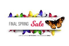 Final Spring Sale. Modern Conceptual Vector Illustration. Promotion Template For Banners, Posters, Gift Cards.  Stock Photo