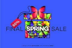 Final Spring Sale. Modern Conceptual Vector Illustration. Promotion Template For Banners, Posters, Gift Cards.  Royalty Free Stock Photo