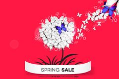 Final Spring Sale. Modern Conceptual Vector Illustration. Promotion Template For Banners, Posters, Gift Cards.  Royalty Free Stock Photography