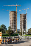 Final stage of modern building construction Royalty Free Stock Photos