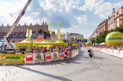 Final stage of Tour de Pologne in Krakow Royalty Free Stock Image