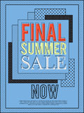 Final summer sale banner for advertisement. Royalty Free Stock Photography