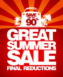 Final summer sale design template. Royalty Free Stock Images