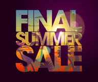 Final summer sale design. Final summer sale design with tropical backdrop Stock Images