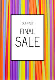 Final Summer Sale Poster Background. Final Summer Sale Poster Colour Background Illustration Royalty Free Stock Image