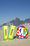 Final Tickets International Football Rio Beach Stock Images
