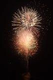 Final três dos fogos-de-artifício Fotografia de Stock