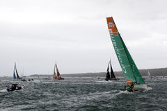 Final Turn - Volvo Ocean Race New Zealand Stock Photo