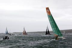 Final Turn - Volvo Ocean Race New Zealand Stock Photo