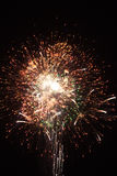 Final um dos fogos-de-artifício Imagem de Stock