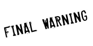 Final Warning rubber stamp Royalty Free Stock Photos