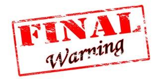 Final warning Stock Photos