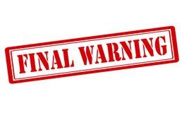 Final warning Stock Photography