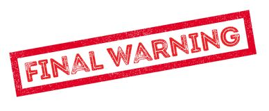 Final Warning rubber stamp Royalty Free Stock Photo