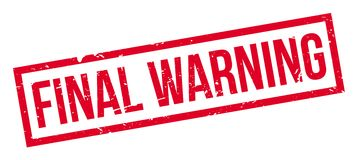 Final Warning rubber stamp Stock Photo