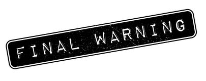 Final Warning rubber stamp. On white. Print, impress, overprint Royalty Free Stock Photography