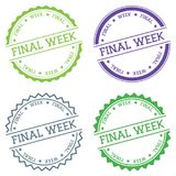 Final week badge isolated on white background. Royalty Free Stock Photo