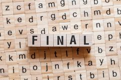 Final word concept stock image