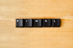 Final word. With keyboard buttons Stock Image