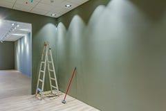 Final work on new modern showroom Stock Image
