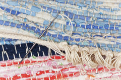 The final work on a rug rag Royalty Free Stock Photos