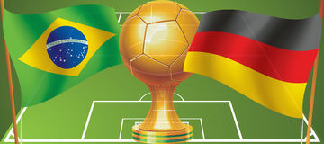 Final World Cup Soccer 2014 Stock Images