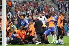 Finale Chelsea Training de ligue de 2012 champions Images libres de droits